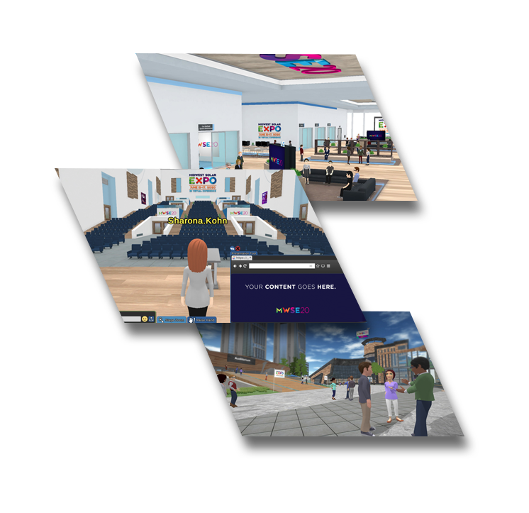 Photos of the virtual campus