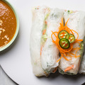 Spicy summer rolls peanut sauce recipe 608 big square