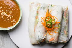 Spicy summer rolls peanut sauce recipe 608 listing