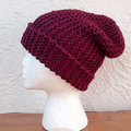 Slouchy garter hat big square
