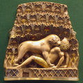599px nimrud ivory lion eating a man big square