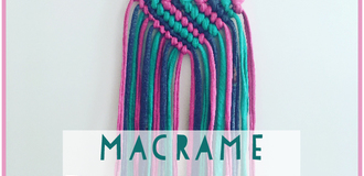 Macrame necklace listing