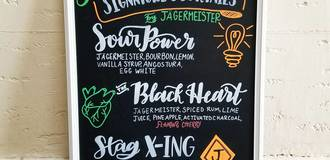Jagermeister chalk board listing