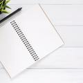 White blank notebook 733857 big square