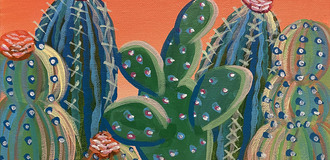 Cactus sip and paint photo listing