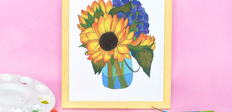 Sunflower mock up listing