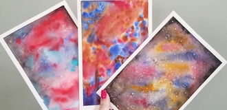Watercolor galaxies listing
