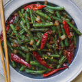 Sichuan dried fried green beans big square