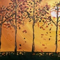 Autumn sip and paint photo big square