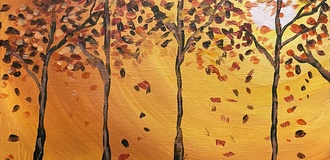 Autumn sip and paint photo listing