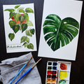 Watercolor house plants brainery big square