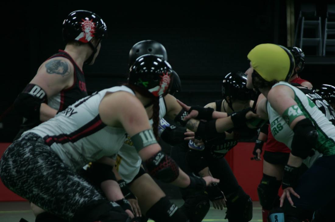 Gotham Girls Roller Derby skaters