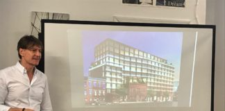 Developers presenting 1010 Pacific St. to members of Community Board 8's land use committee.