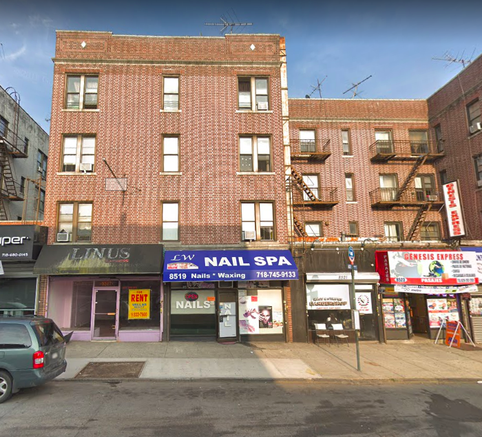 Andrew Gounardes' campaign office and a building of the 82nd worst landlord's in New York City, according to the NYC Public Advocate's office. (Photo: Google Maps screenshot)