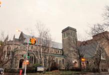 Flatbush Presbyterian Church on Foster and East 23rd in November of 2018. Liena Zagare/Bklyner