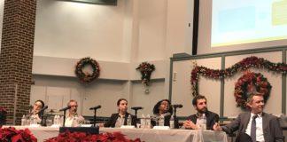 The public charge panel at Lenox Road Baptist Church. (Photo: Kadia Goba/Bklyner)