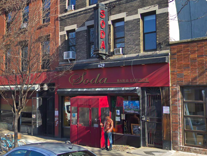 Soda Bar at 629 Vanderbilt Avenue in Prospect Heights. (Screenshot: Google Maps)