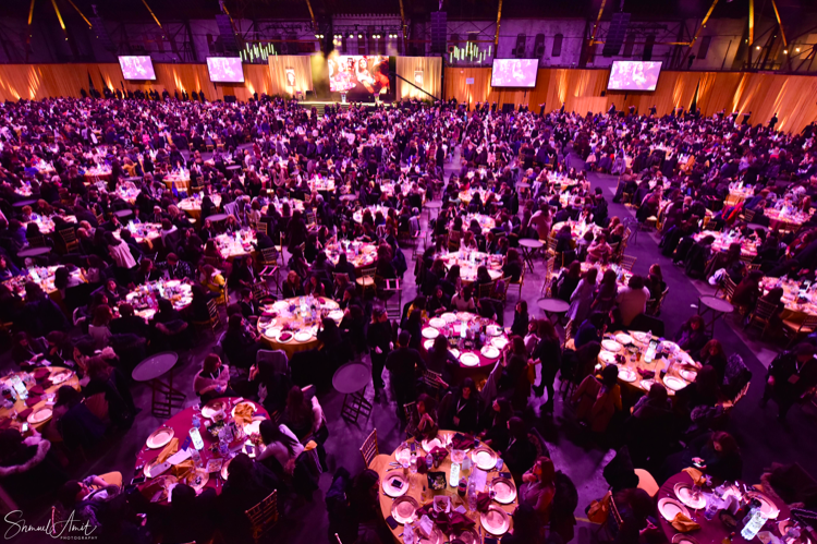 at the annual International Chabad-Lubavitch Women's Conference dinner at the New York State Armory in Williamsburg.