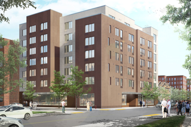 The Bishop Philius and Helene Nicolas Senior Residence at 1488 New York Avenue (Renderings: Heritage Architecture and Rodney Leon Architects)