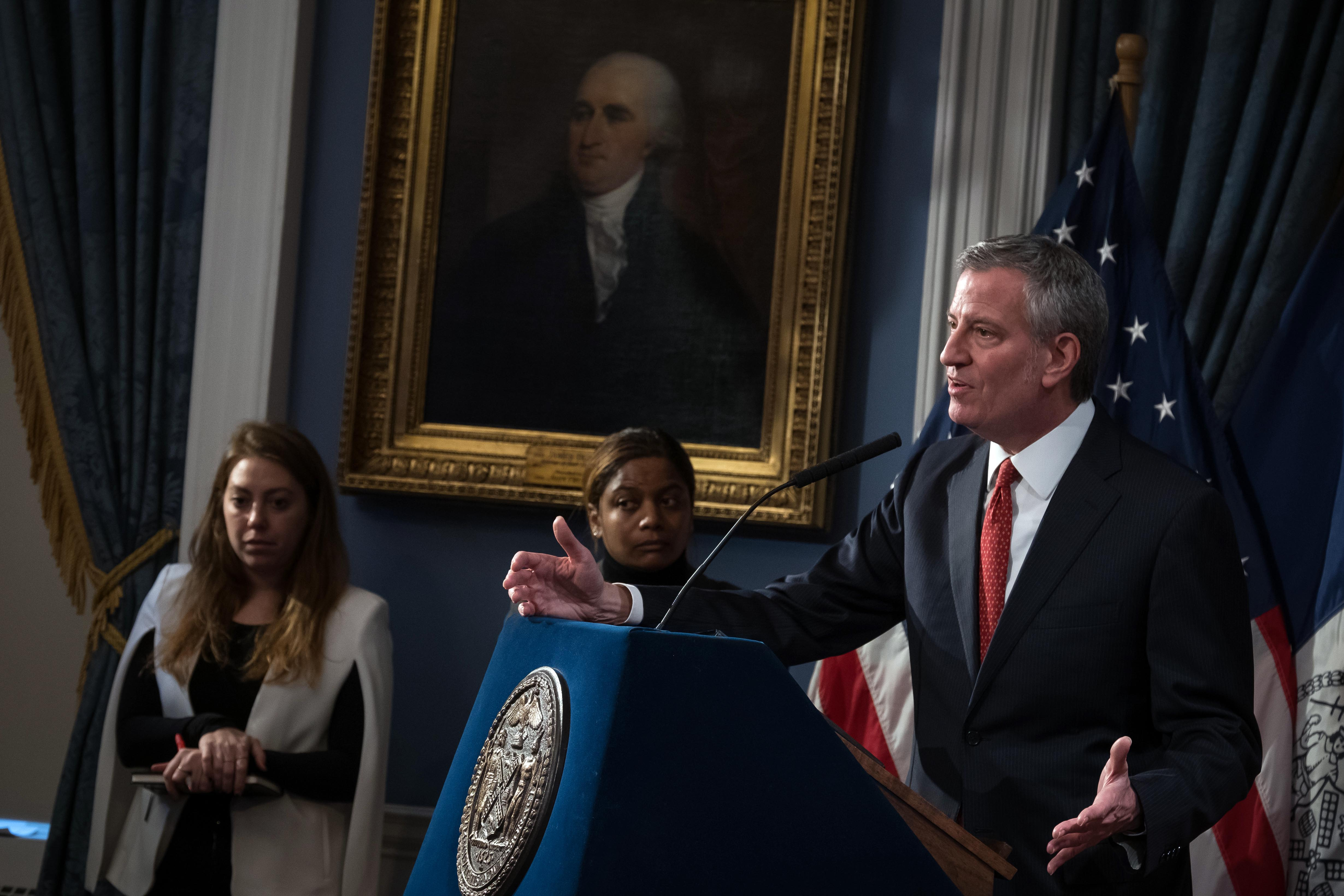 De Blasio Unveils Preliminary Budget Calling for Cuts to Education