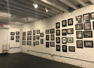 The Nostrand Avenue Improvement Association's photo exhibit in Studio 1 of the The Black Lady Theatre.