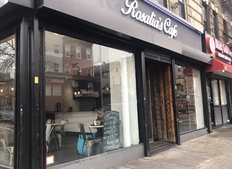 Rosalia's Cafe replaces the Nostrand Avenue Connecticut Muffin in Crown Heights. (Photo: Kadia Goba/Bklyner)