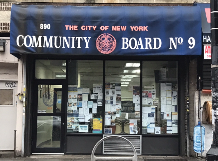 Community Board 9 at 890 Nostrand Ave. between Carroll and Presidents Streets. (Photo: Kadia Goba/Bklyner)