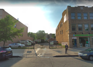 Vacant lot at 9114 Fifth Avenue. Plans to rezone the area to develop a 9-story mixed-use development.(Screenshot: Google Maps)