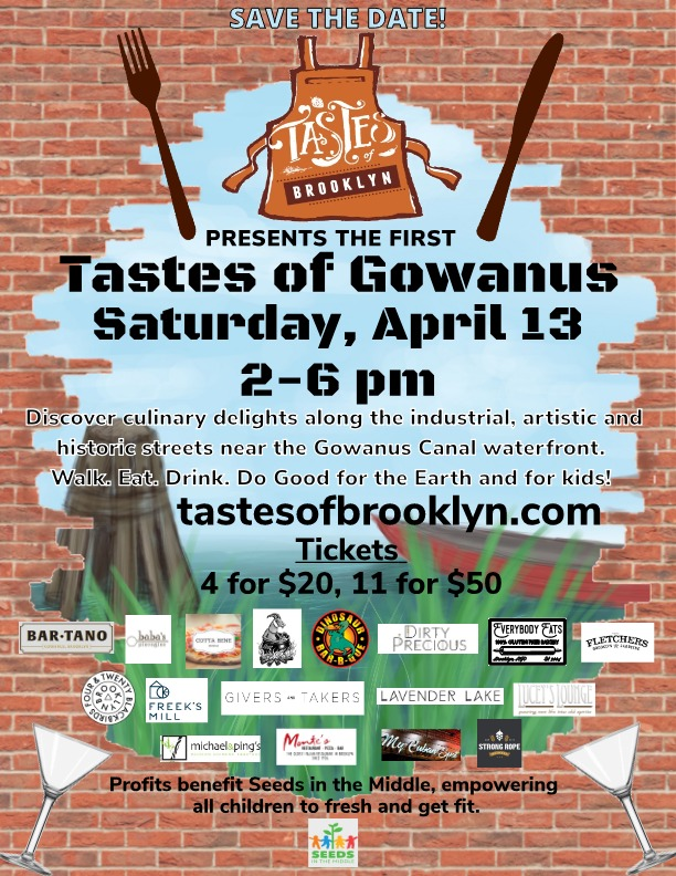 Save The Date: First Annual Tastes Of Gowanus Food & Drink