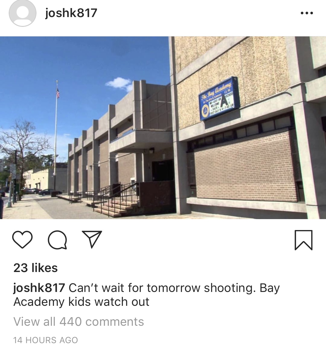 UPDATE: Shooting Threat At Bay Academy Junior High, 11