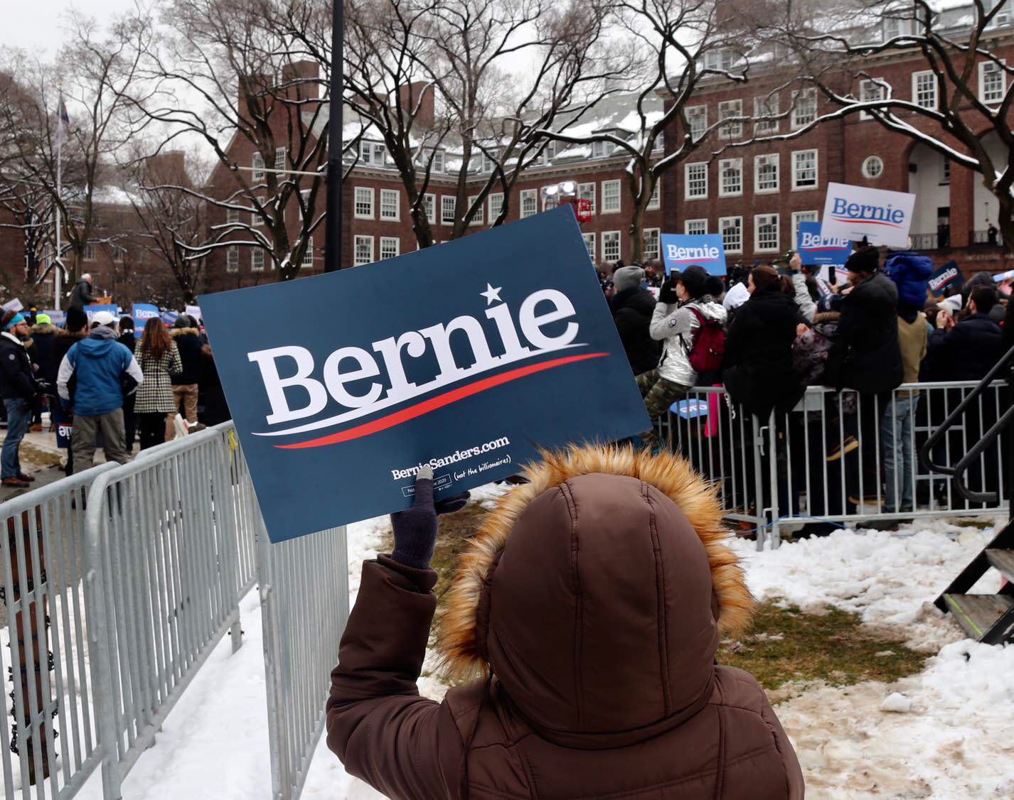 Bernie Sanders rally at Brooklyn College in Midwood