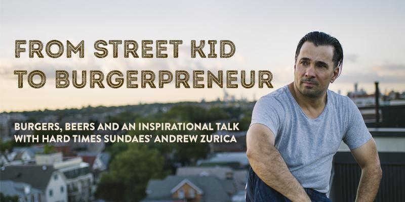 """From Street Kid to Burgerpreneur"" at Dekalb Market Hall"