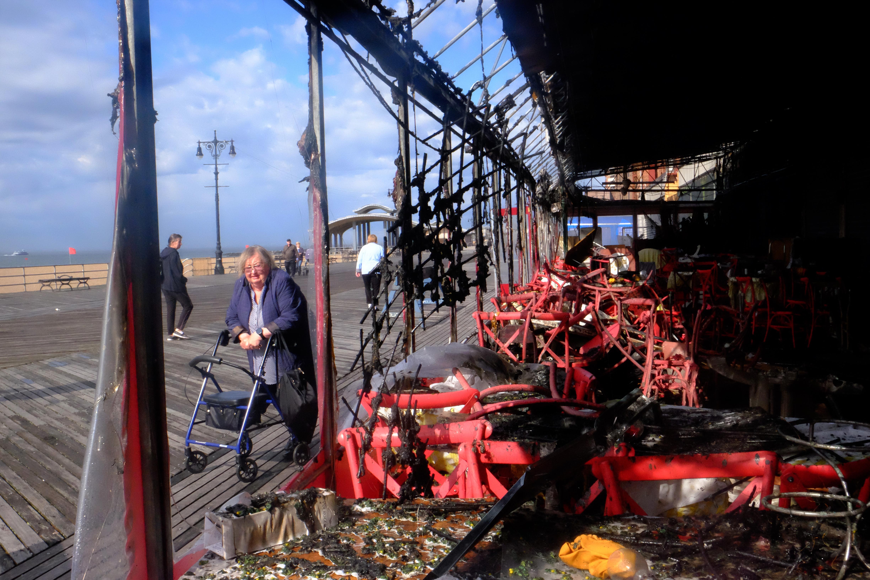 Boardwalk, Brighton Beach Restaurant Burn Last Night - BKLYNER