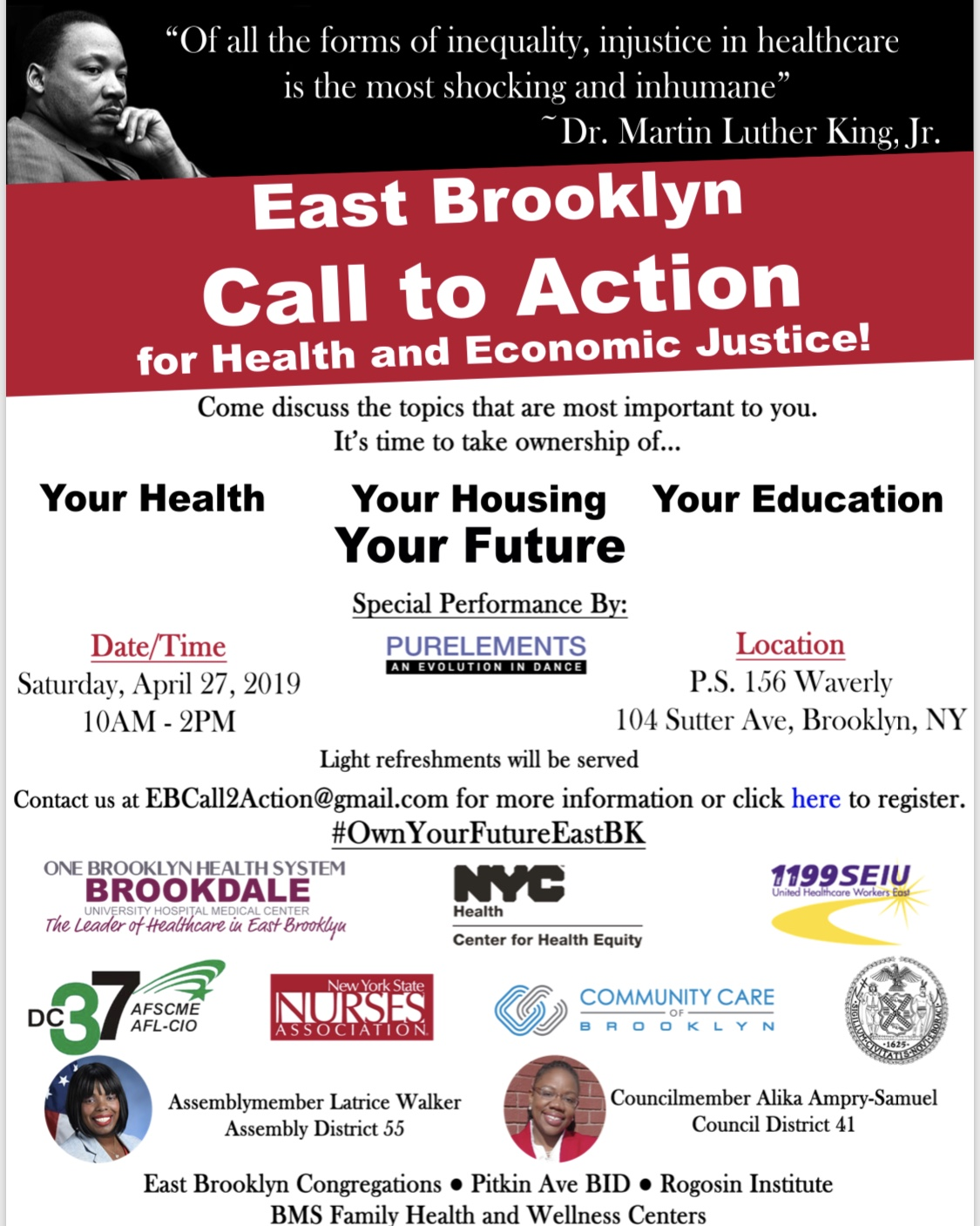 East Brooklyn Call To Action For Health & Economic Justice - BKLYNER