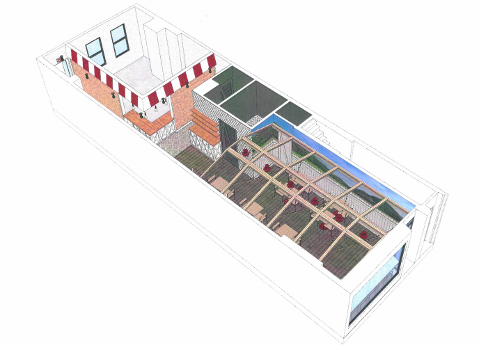 Interior of Izzy's Fried Chicken at 262 Kingston Avenue (Renderings: Input Creative Studio)