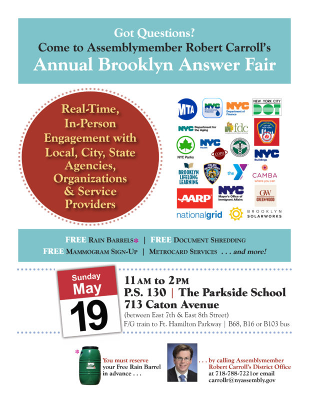 Assembly Member Carroll To Host First Annual Brooklyn Answer Fair