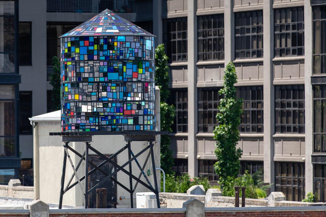 Meet The Artist Behind Brooklyn's Kaleidoscopic Water Towers