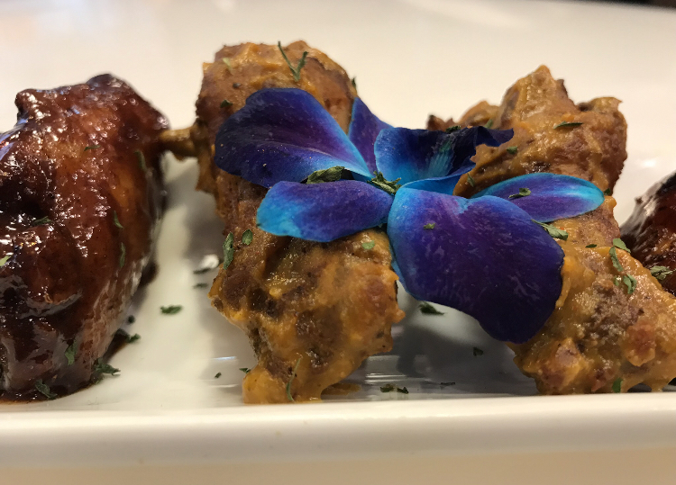 Chicken and waffles Majah Hype's Kitchen and juice bar (Kadia Goba/Bklyner)