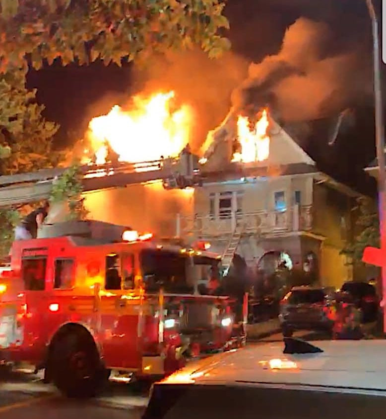 Suspicious Early morning 4-alarm fire destroys three century