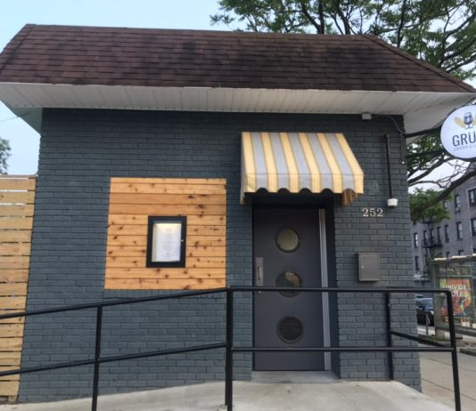 Gruit Garden & Eatery. Replacing the old Toomey's Diner on the corner of Empire Blvd as Rogers Avenue. (Photo: Kadia Goba/Bklyner)