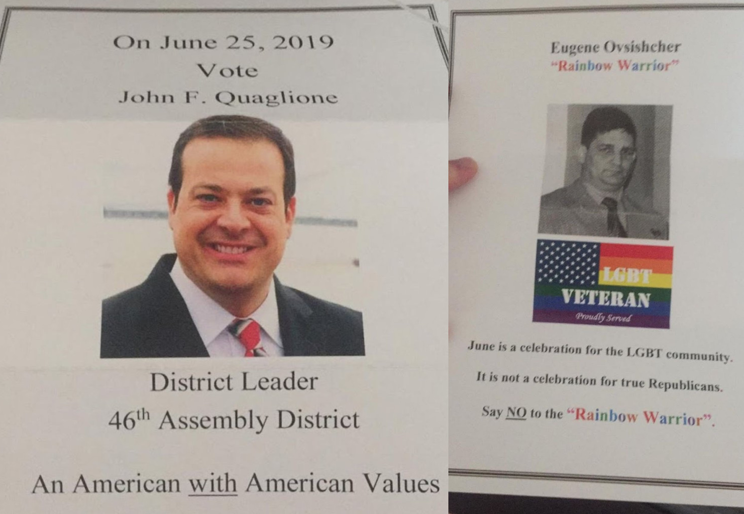 Hateful Flyers Hijack Southern Brooklyn's District Leader Race