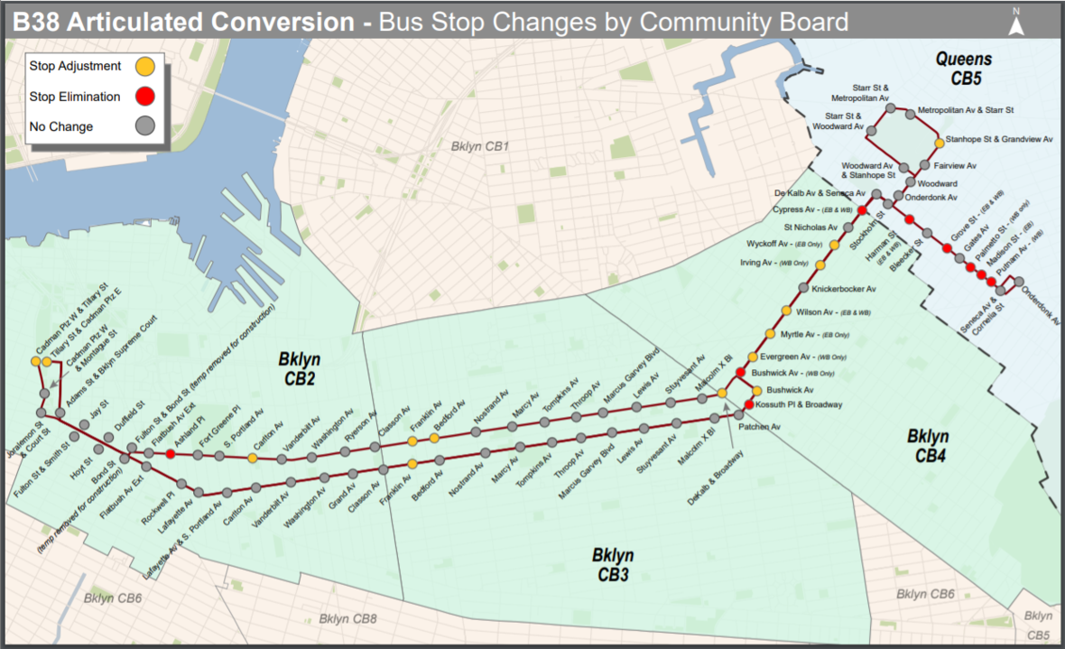 MTA To Cut 4 Brooklyn Stops On B38 Route With Switch To