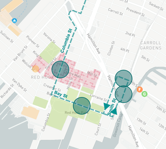 BQX map Red Hook 2020 via DOT