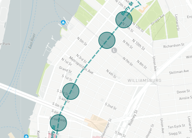 BQX map Williamsburg 2020 via DOT
