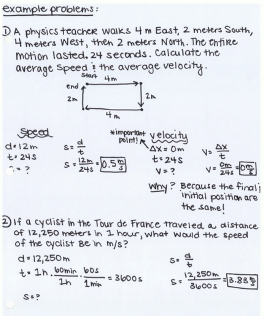 Worksheet 3 Constant Velocity Calculations – Speed Problem Worksheet