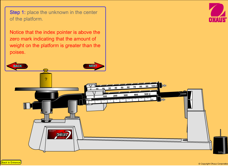 Eighth Grade Lesson Triple Beam Balance Introductory Activity