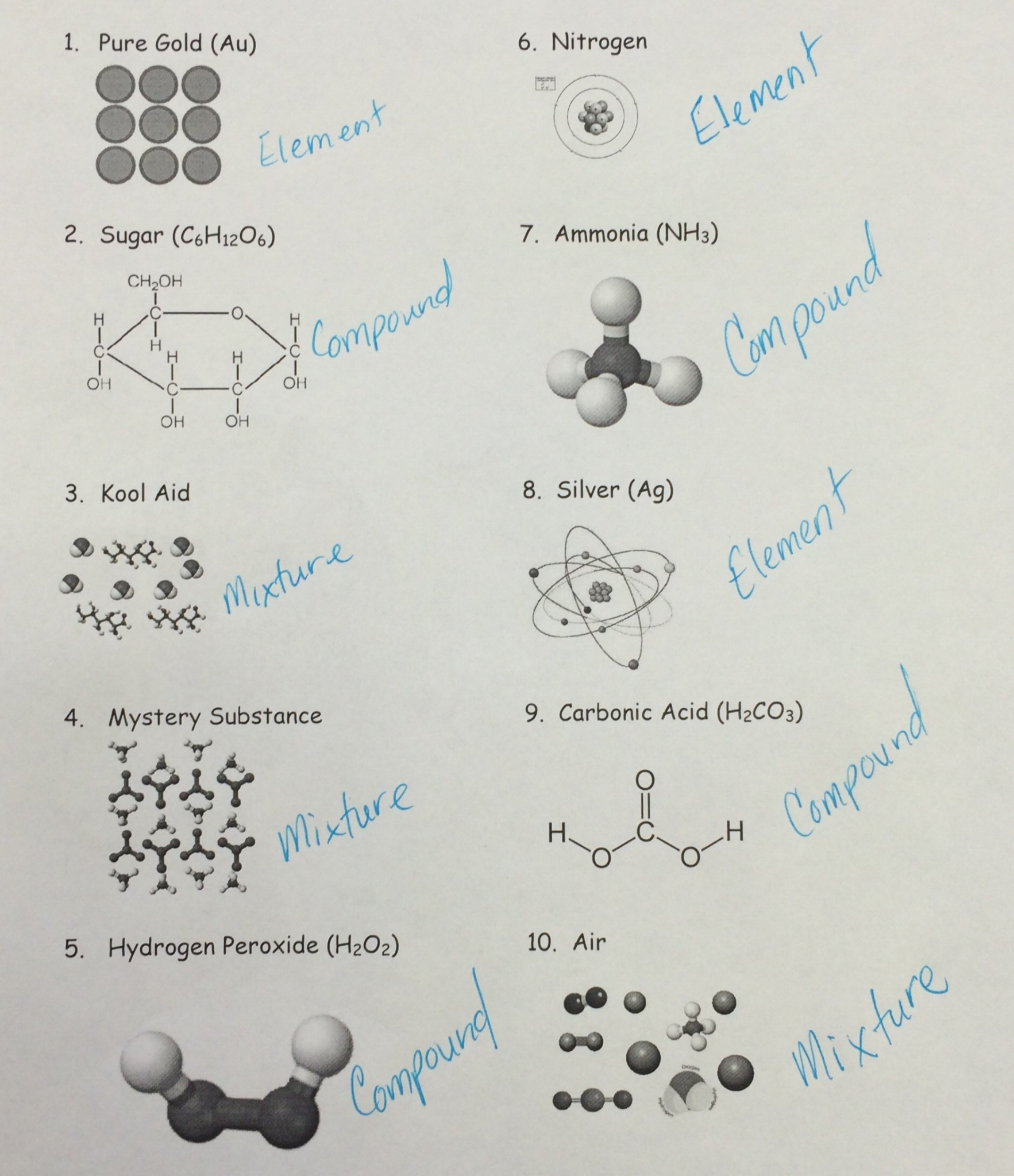 worksheet Element Compound Mixture Worksheet skill 3 true false answer key betterlesson if the matter is an element molecule compound or mixture based on structural patterns they observed when creating marshmallow molecules