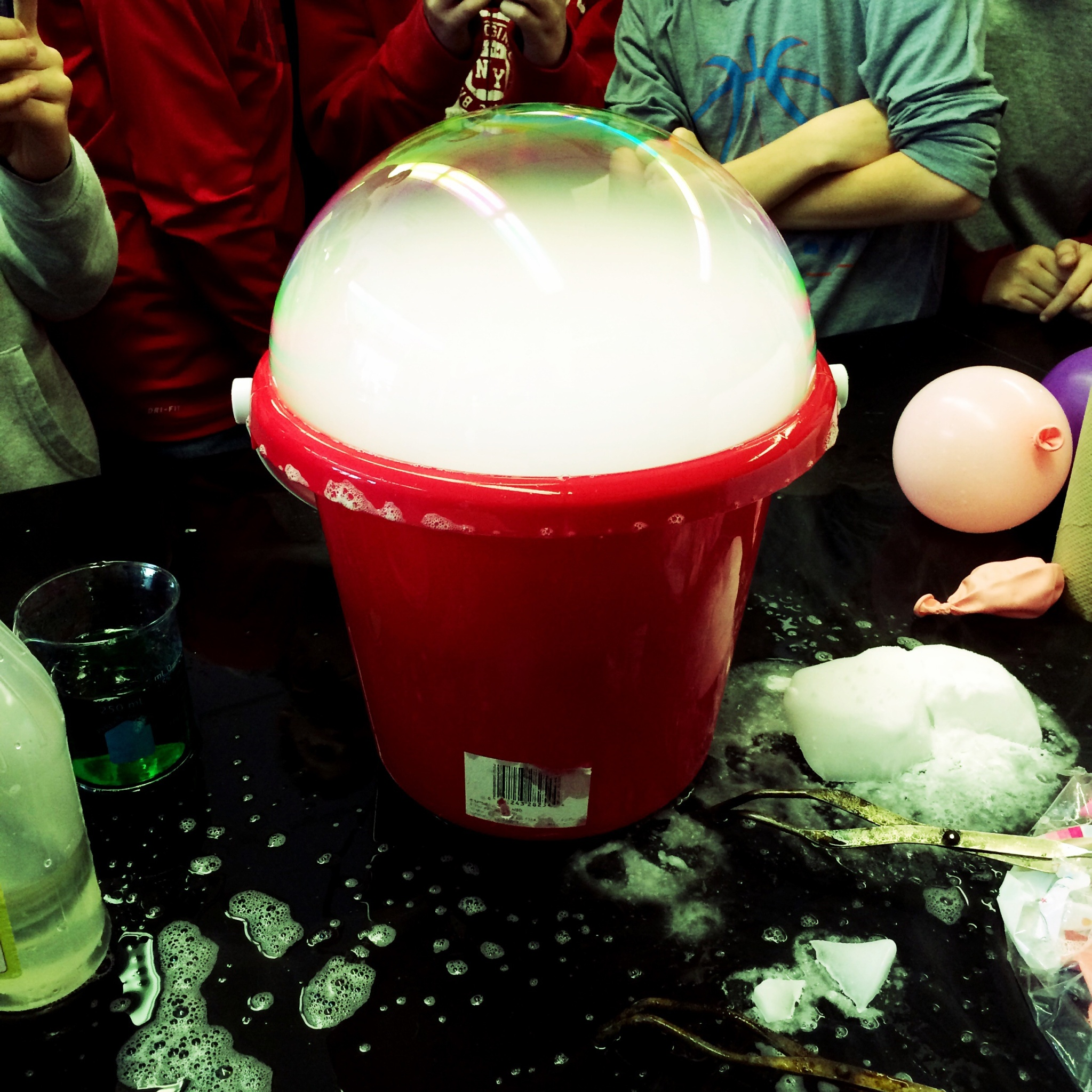 Dry ice soap bubbles video betterlesson endothermic reactions dry ice demonstrations robcynllc Gallery