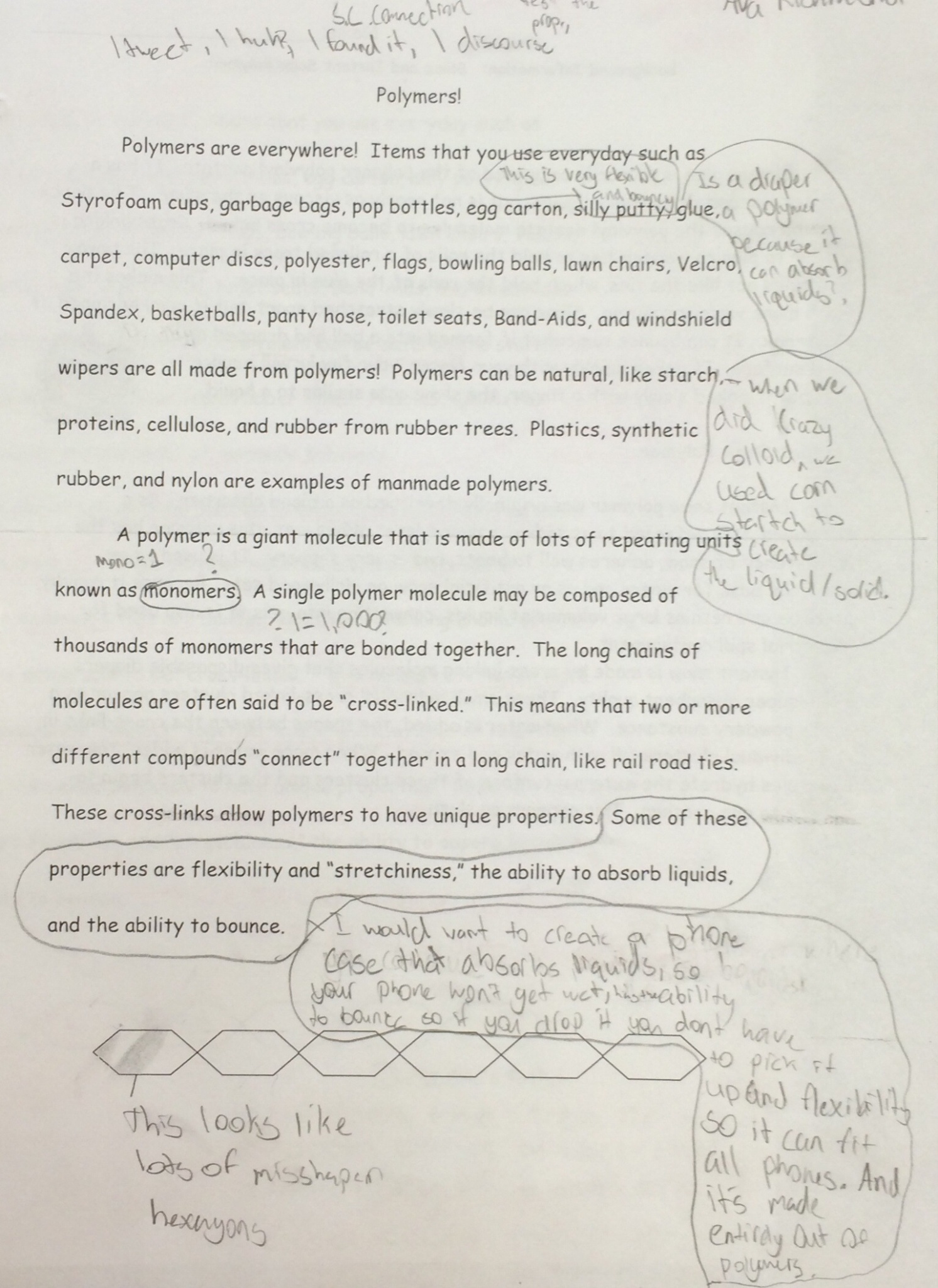 producing creative writing journal rubric
