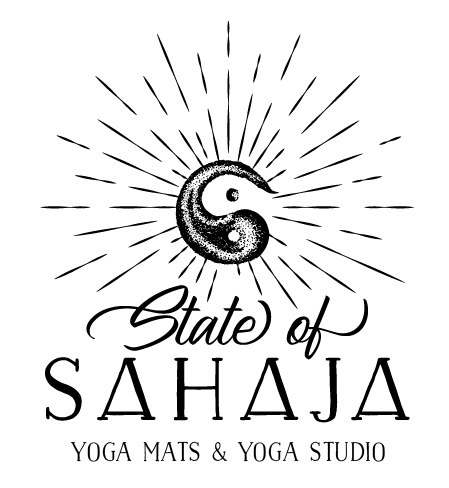 Logo for State of Sahaja: Yoga Mats & Yoga Studio That Gives Back